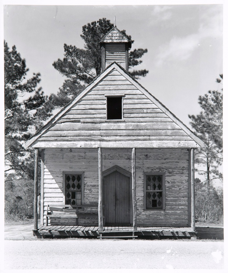 Walker Evans (1903-1975) Wooden Church, South Carolina, 1936. Gelatin silver print, printed 1969-1970 by James Dow. This lot is offered in MoMA Walker Evans, 3-11 April 2018 at Christie's online