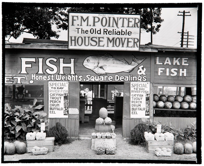 Walker Evans (1903-1975) Roadside Stand near Birmingham, Alabama, 1936. Gelatin silver print, printed 1969-1970 by James Dow. This lot is offered in MoMA Walker Evans, 3-11 April 2018 at Christie's online