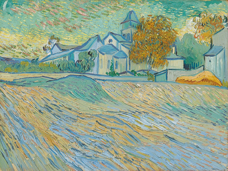 Vincent van Gogh (1853-1890), Vue de lasile et de la Chapelle de Saint-Rémy, 1889. Oil on canvas. 17¾ x 23¾ in (45.1 x 60.4 cm). This lot was offered in the Impressionist and Modern Art Evening Sale on 15 May at Christie's in New York and sold for $39,687,500