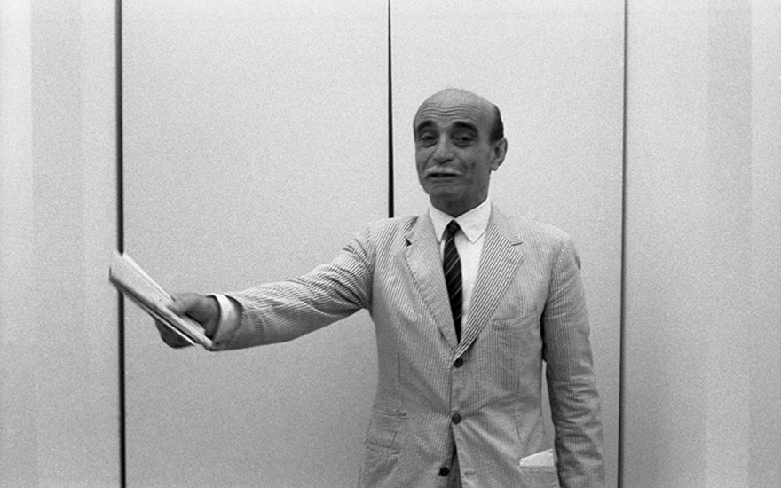 Lucio Fontana at the Biennale, 1966. Photograph Archivio Cameraphoto EpocheGetty Images. © Lucio FontanaSIAEDACS, London 2015