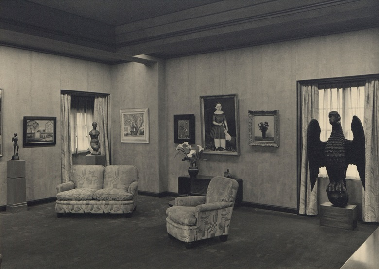 Abby Aldrich Rockefeller's private gallery on the seventh floor of her Manhattan home. Photo courtesy of the Rockefeller Archive Center. Artwork © ADAGP, Paris and DACS, London 2018.