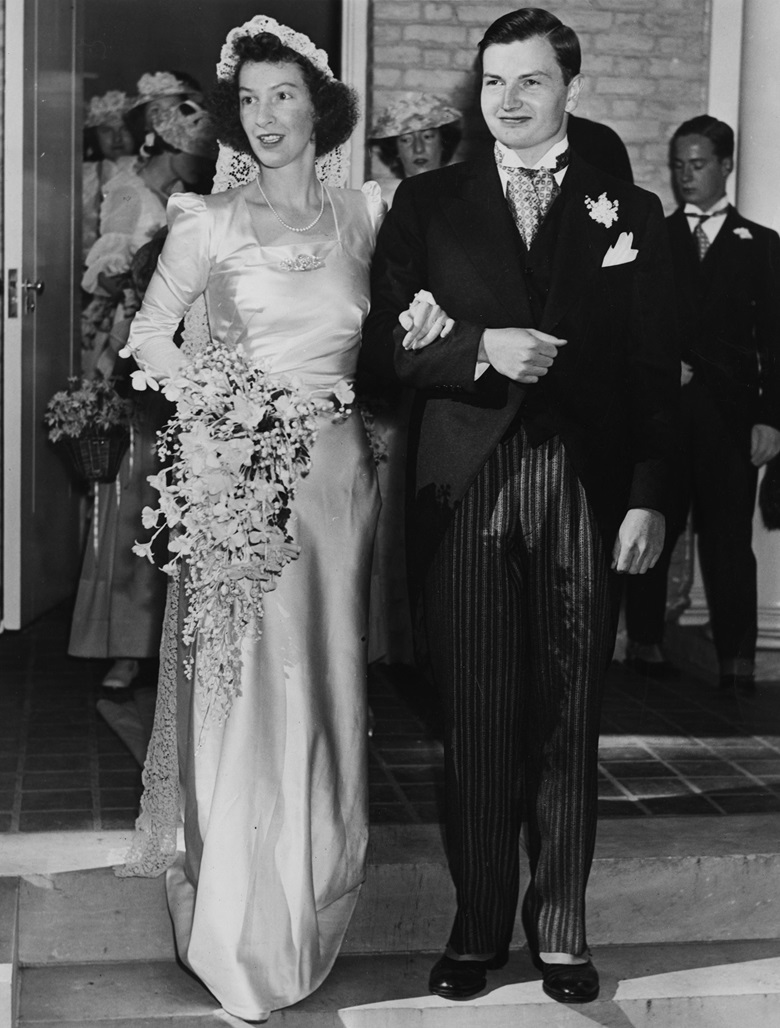 Peggy and David Rockefeller on their wedding day, 7 September 1940. Photo Paul Popper  Popperfoto  Getty Images