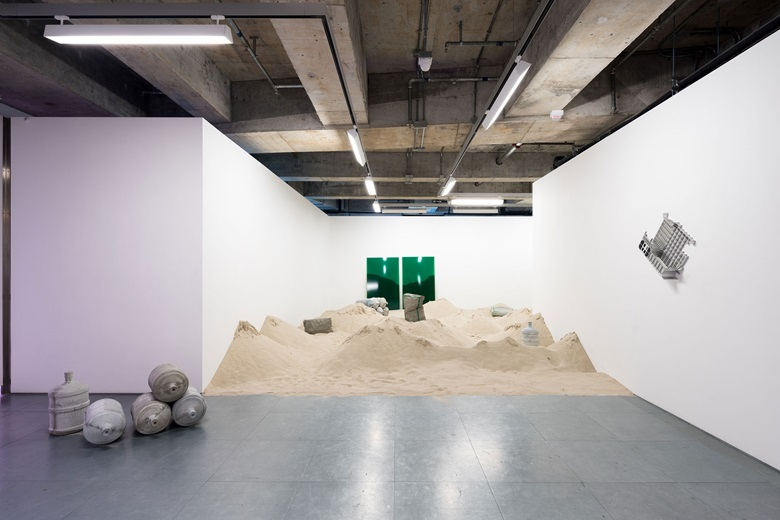 Installation view of João Vasco Paiva's Green Island  at Edouard Malingue Gallery, 2016. Photo courtesy of the gallery