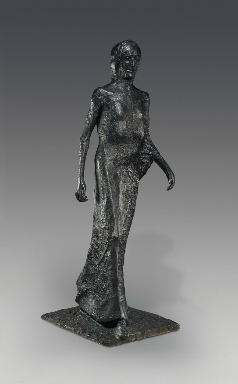 Dame Elisabeth Frink, R.A. (1930-1993), Walking Madonna, conceived in 1981 and cast in an edition of 3. Bronze with a brown black patina. 80 in (203.2 cm) high. Estimate £500,000-800,000. This work is offered in the Modern British & Irish Art Evening Sale on 19 June at Christie's London