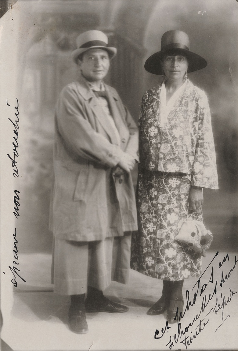 Gertude Stein (left) and Alice B. Toklas. Photo from the Gertrude Stein and Alice B. Toklas papers, Yale Collection of American Literature, Beinecke Rare Book and Manuscript Library, Yale University