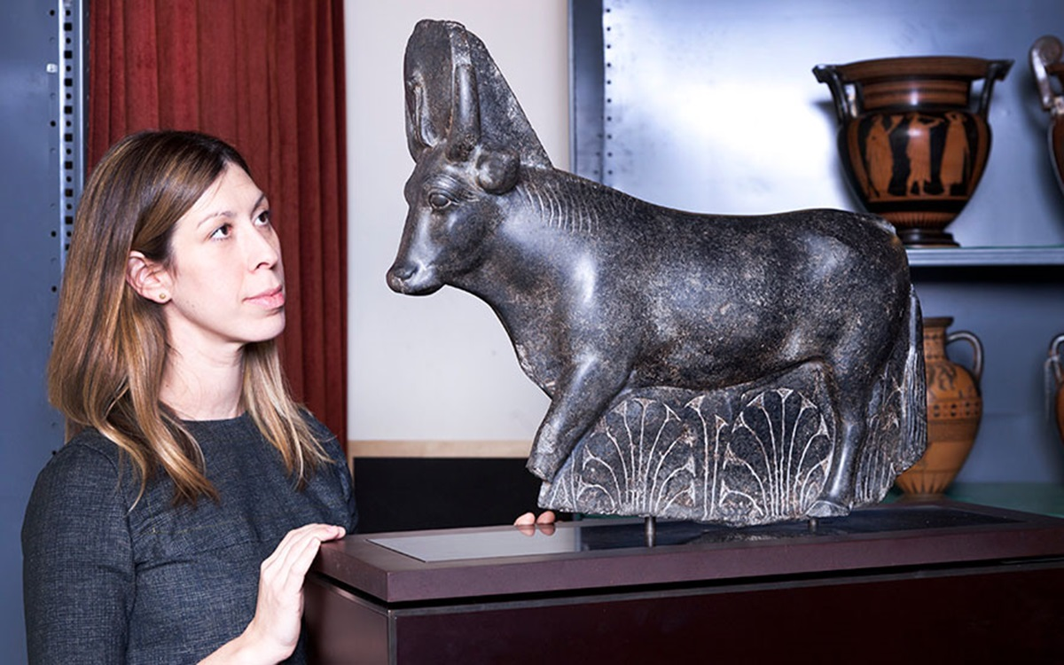 5 minutes with... An Egyptian sculpture of a sacred bull