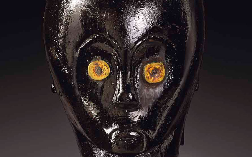 Detail of Eyema Byeri Fang reliquary figure, Eyema Byeri, Gabon. Height 50  cm (19  in). Estimate €1,500,000-2,500,000. This lot is offered in Arts dAfrique, dOcéanie et dAmérique