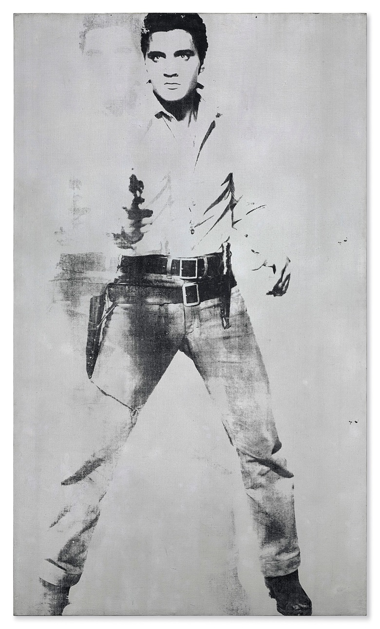 Andy Warhol (1928-1987), Double Elvis [FerusType], 1963. Silkscreen ink and spray paint on linen. 81¾ x 48 in (207.6 x 121.9 cm). Estimate on request. This work is offered in the Post-War and Contemporary Art Evening Sale on 17 May at Christie's in New York. Artwork © 2018 The Andy Warhol Foundation for the Visual Arts, Inc.  Licensed by Artists Rights Society (ARS)