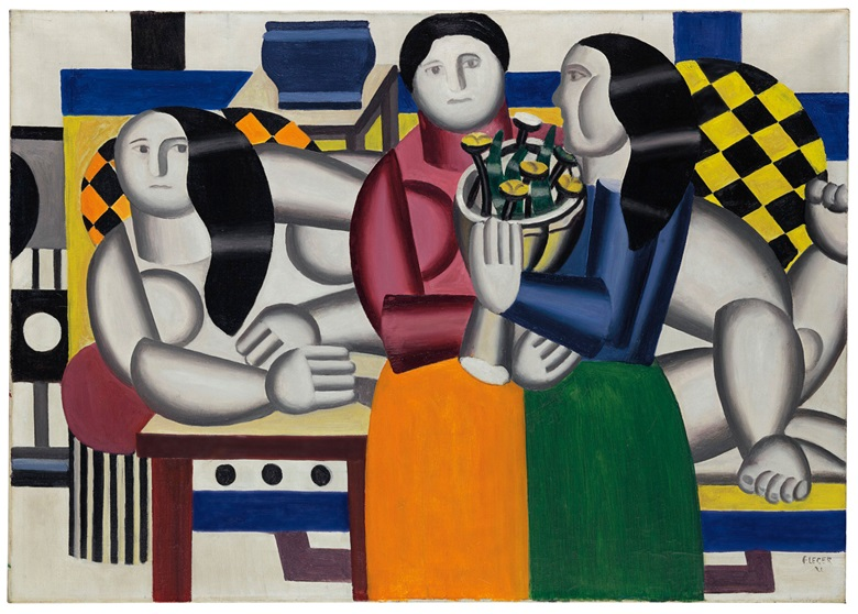 Property from The Collection of Joan and Preston Robert Tisch. Fernand Léger (1881-1955), Les trois femmes au bouquet (1922). Estimate $12,000,000-18,000,000. This work is offered in the Impressionist and Modern Art Evening Sale on 15 May at Christie's in New York © ADAGP, Paris and DACS, London 2018