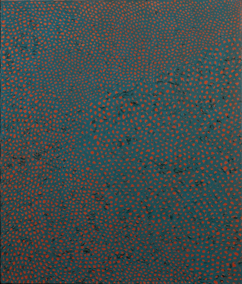 Yayoi Kusama (b. 1929), No. F.C.H., 1960. Oil on canvas. 76.2 x 66 cm (30 x 23⅝ in). Estimate HK$16,000,000–26,000,000. This work is offered in Asian 20th Century & Contemporary Art Evening Sale on 26 May 2018 at Christie's in Hong Kong