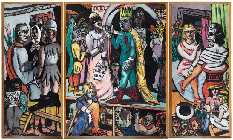 Max Beckmann, Actors, 1941-42. Harvard Art MuseumsFogg Museum, Cambridge, MA, gift Lois Orswell. © VG Bild-Kunst, Bonn 2018. Photo Imaging Department, © President and Felllows of Harvard College