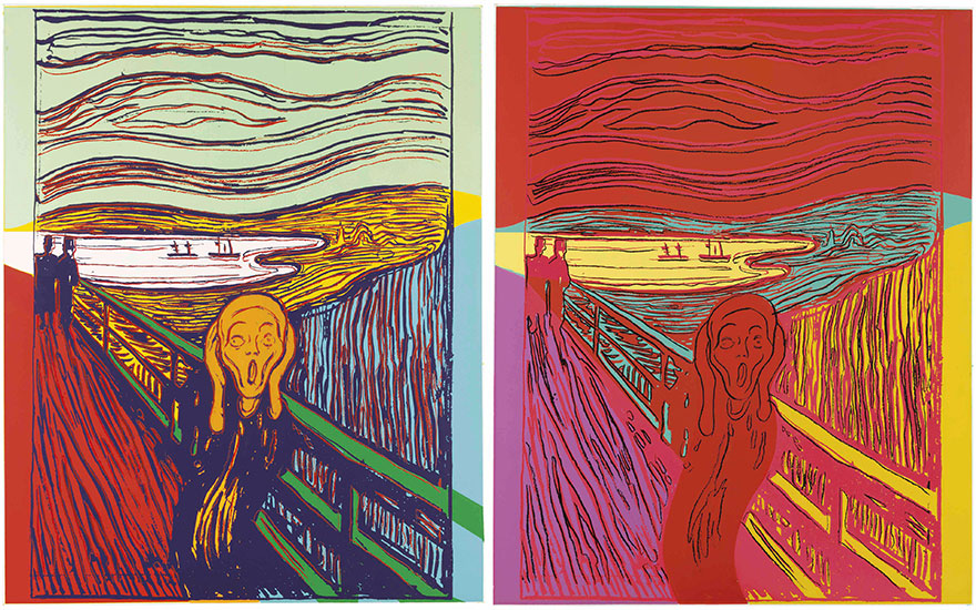 Two Andy Warhol prints of The Scream (After Munch). These lots are offered in Prints and Multiples on 19-20 April at Christie's in New York