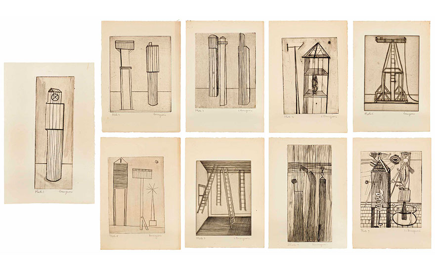 Louise Bourgeois (1911-2010), He Disappeared Into Complete Silence, Gemor Press, New York, 1947. Estimate $400,000-600,000. This lot is offered in Prints and Multiples on 20 April at Christie's