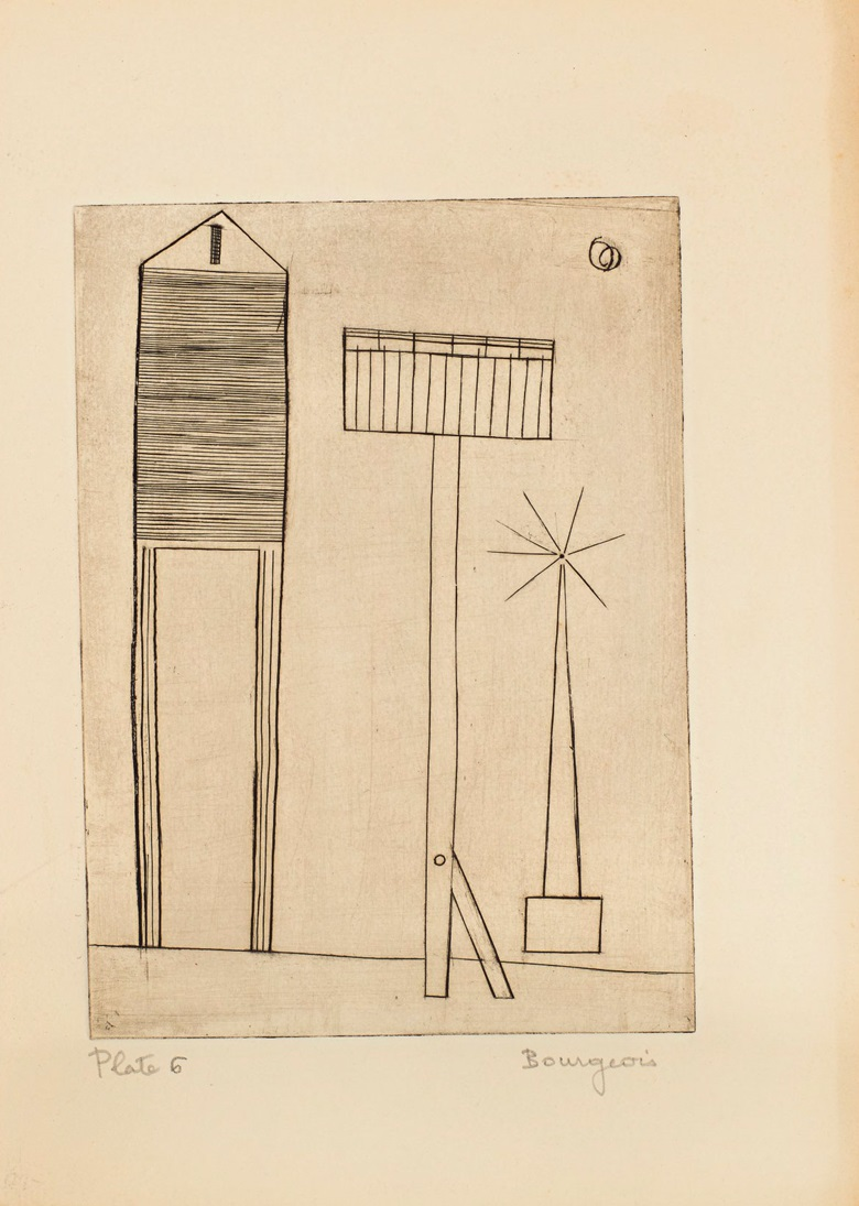Plate 6, Louise Bourgeois (1911-2010), He Disappeared Into Complete Silence. Gemor Press, New York, 1947. Estimate (for the complete edition) $400,000-600,000. This lot is offered in Prints and Multiples on 20 April at Christie's in New York
