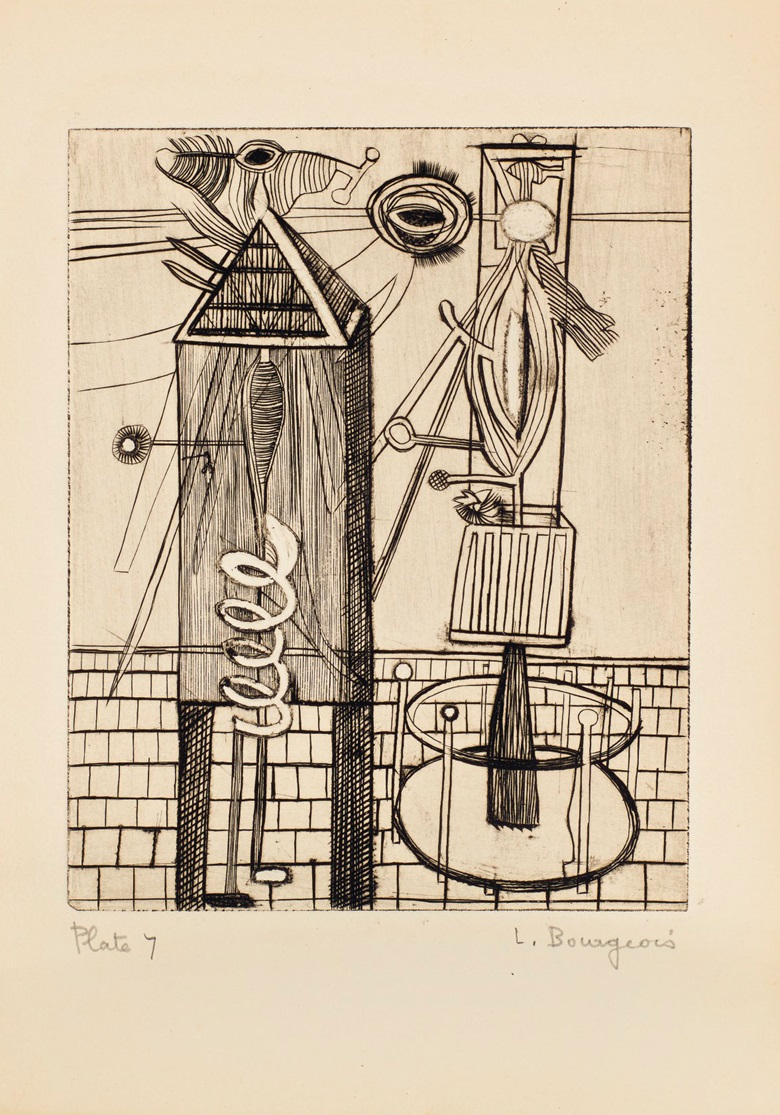 Plate 7, Louise Bourgeois (1911-2010), He Disappeared Into Complete Silence. Gemor Press, New York, 1947. Estimate (for the complete edition) $400,000-600,000. This lot is offered in Prints and Multiples on 20 April at Christie's in New York