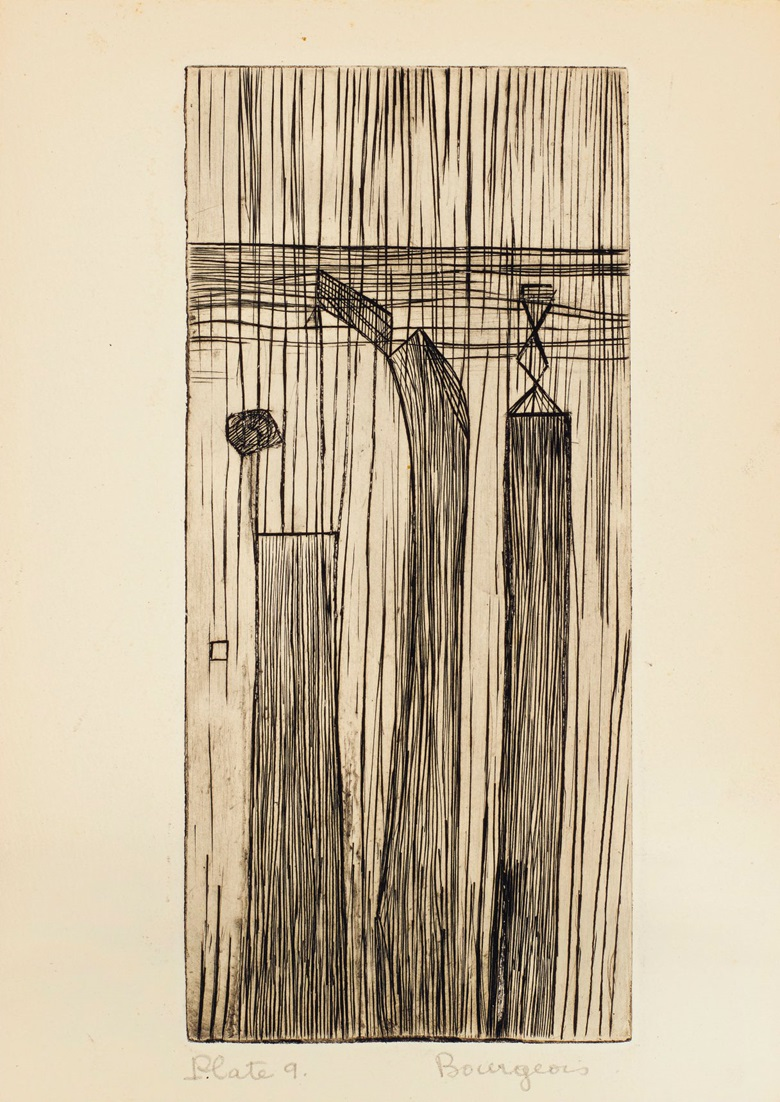 Plate 9, Louise Bourgeois (1911-2010), He Disappeared Into Complete Silence. Gemor Press, New York, 1947. Estimate (for the complete edition) $400,000-600,000. This lot is offered in Prints and Multiples on 20 April at Christie's in New York.