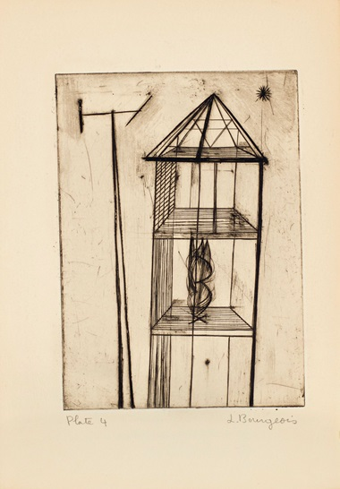 Plate 4 Louise Bourgeois (1911-2010), He Disappeared Into Complete Silence. Gemor Press, New York, 1947. Estimate (for the complete edition) $400,000-600,000. This lot is offered in Prints and Multiples on 20 April at Christie's in New York