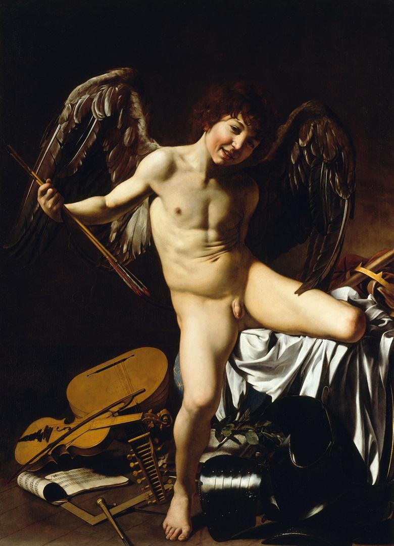 Caravaggio, Amor Vincit Omnia, 1602. Photo Scala,            Florencebpk, Bildagentur für Kunst, Kultur und Geschichte,            Berlin