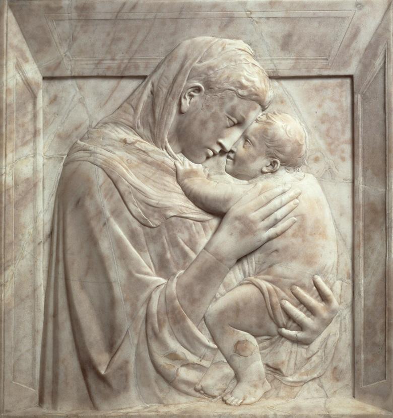 Donatello, the Pazzi Madonna, circa 1420. Photo Scala,            Florencebpk, Bildagentur für Kunst, Kultur und Geschichte,            Berlin