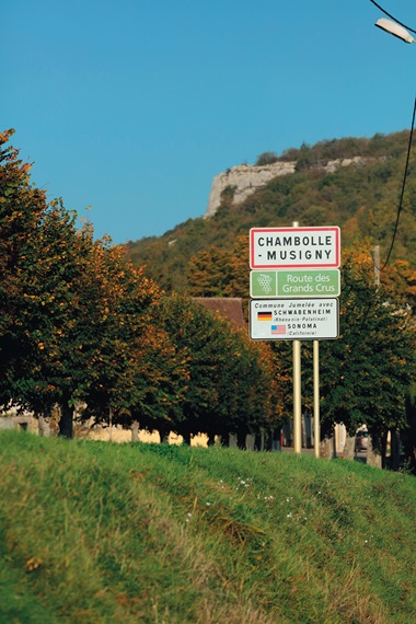 Approaching the village of Chambolle-Musigny in Burgundy