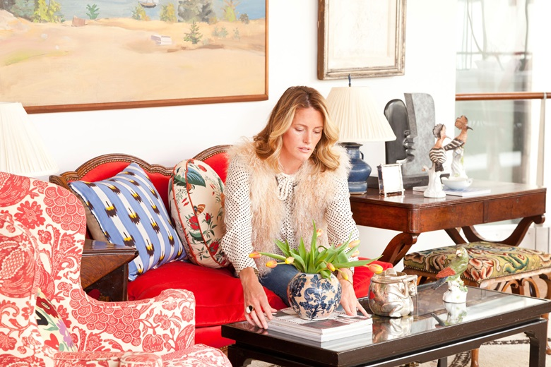 'If you start with a great piece, you can put the brightest red velvet on it and it will feel totally fresh,' says interior designer Sara Gilbane