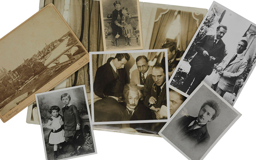 Six photographs of Einstein. Estimate £500-800. This lot is offered in Einstein and Family Letters and Portraits, 2-9 May 2018, Online
