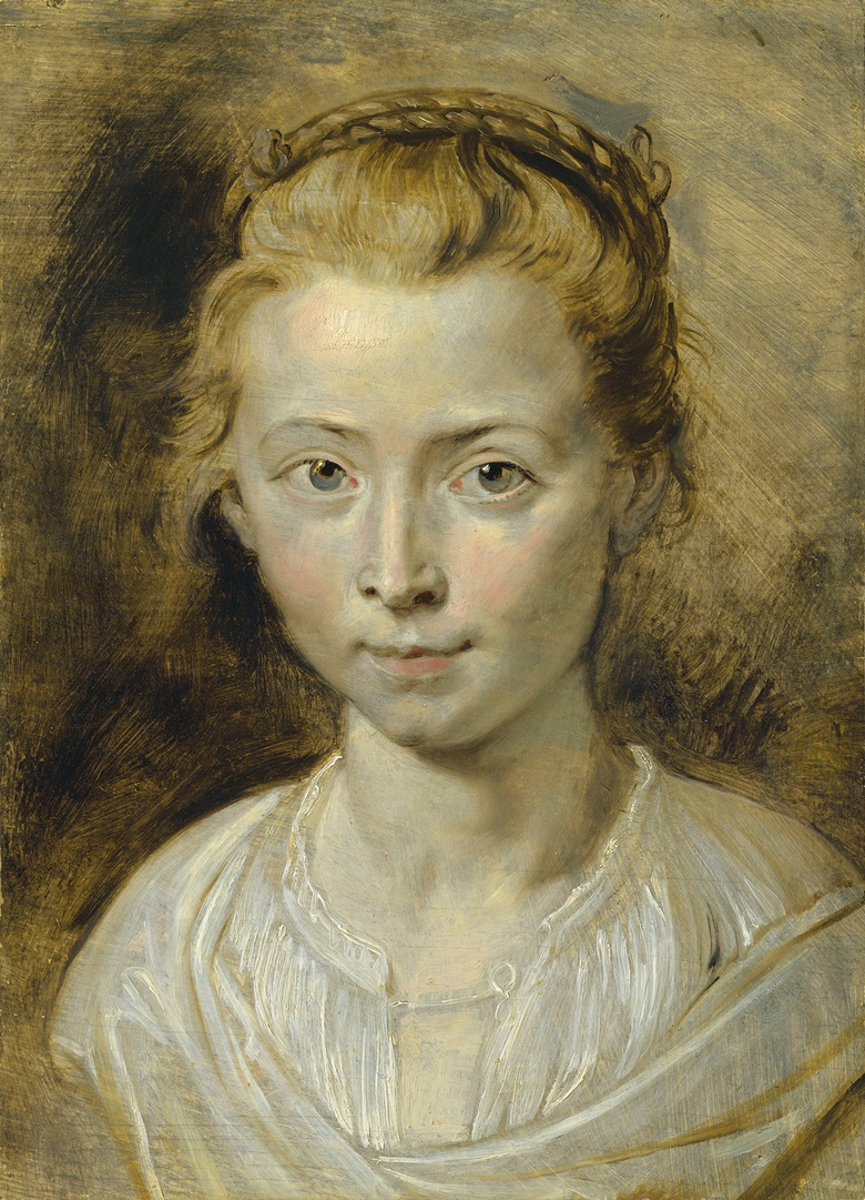 Sir Peter Paul Rubens (Siegen 1577-1640 Antwerp), Portrait of Clara Serena Rubens, the artists daughter. Oil on panel. 14¼ x 10⅜ in (36.2 x 26.4 cm). Estimate £3,000,000-5,000,000. This work is offered in the Old Masters Evening Sale on 5 July at Christie's in London