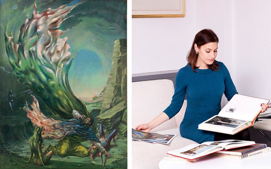 Dorothea Tanning's The Temptation of St. Anthony, 1945-1946. 47⅞ x 35⅞  in (121.4 x 91.2  cm). Estimate $400,000-600,000. Offered in Impressionist and Modern Art Day Sale on 16 May at