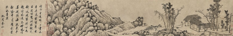 Shen Zhou (1427-1509), Planting Bamboo. Handscroll, ink on paper. 24.5 x 98  cm (9⅝ x 38⅝  in). Estimate HK$3,000,000-5,000,000. Offered in Fine Chinese Classical Paintings and Calligraphy on 28 May at Christie's in Hong Kong