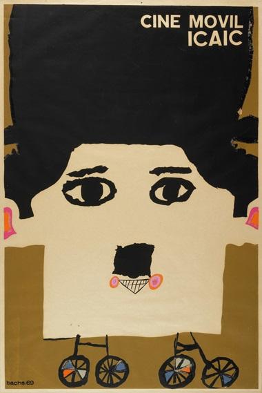 Eduardo Muñoz Bachs (1937-2001), Cine móvil ICAIC, 1969. Silkscreen poster. 30 x 19⅞ in (76.2 x 50.5 cm)