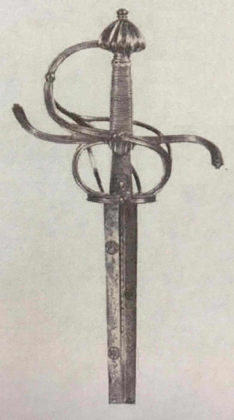 A Saxon swept-hilt rapier sold in 1977 at Christie's in Geneva for CHF 30,000