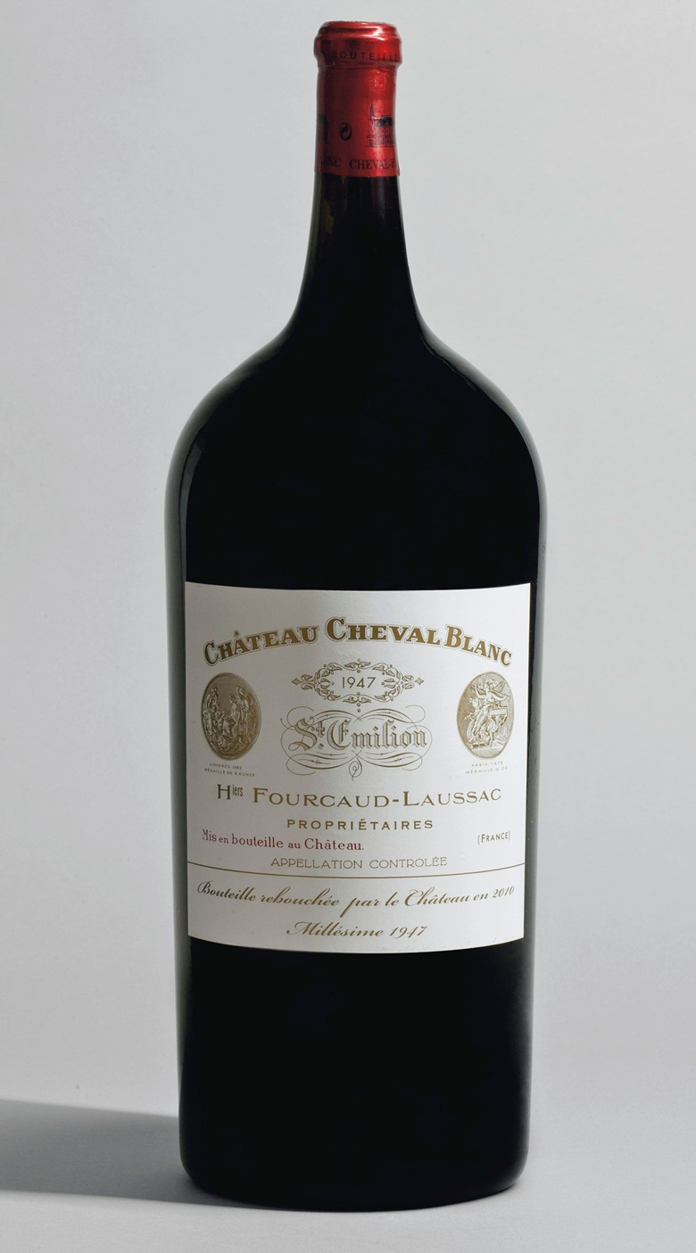 Château Cheval-Blanc, 1947. Sold for CHF 298,500 on 16 November 2010 at Christie's in Geneva