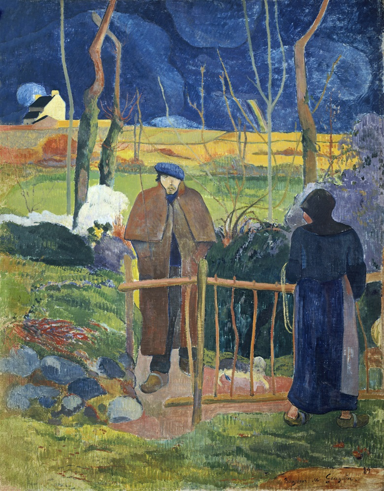 Paul Gauguin's Bonjour Monsieur Gauguin, 1889, oil on canvas, 113 x 92 cm. Sold in 1969 at Christies in Geneva for CHF 1,300,000. Photo Narodni Galerie, Prague, Czech RepublicBridgeman Images