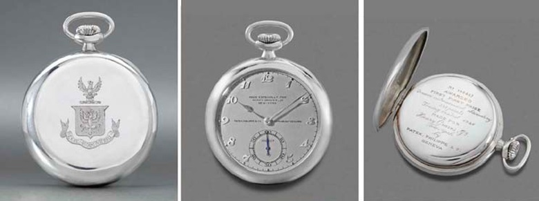 Henry Graves Jr.'s custom platinum Patek Philippe pocket watch sold for CHF 2,252,000 in 2004 at Christies in Geneva