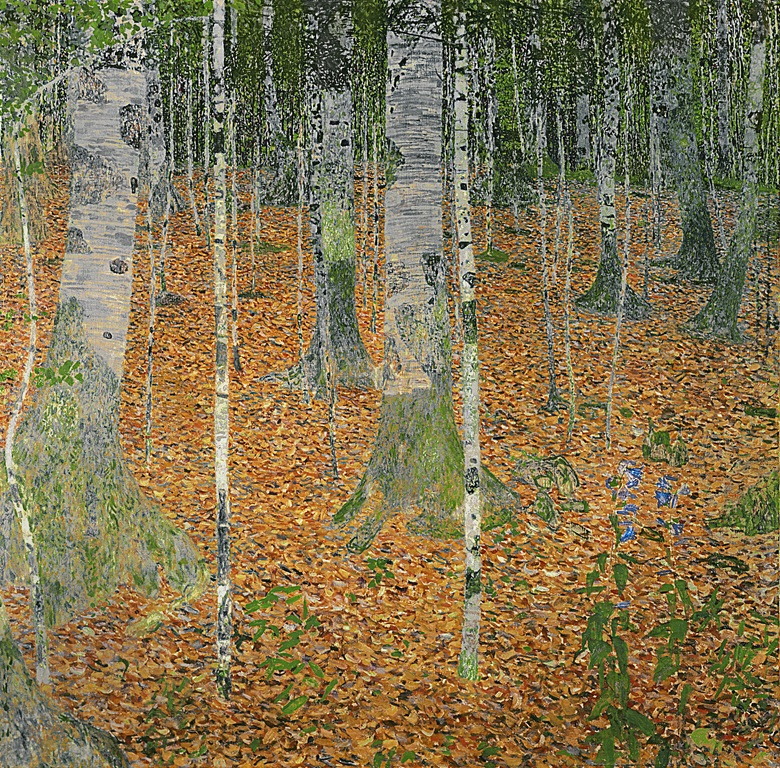 Gustav Klimt (1862-1918), Birch Forest, painted in 1903. 43¼ x 43¼  in (110 x 110  cm). Sold for $40,336,000 on 8 November 2006 at Christie's in New York