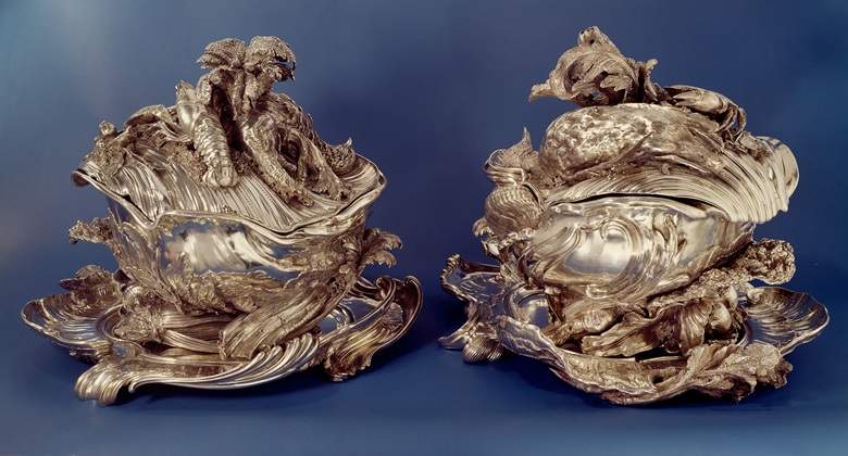 A pair of Louis XV silver tureens made by Juste-Aurèle Meissonier sold in 1977 at Christie's in Geneva for CHF 2,450,000