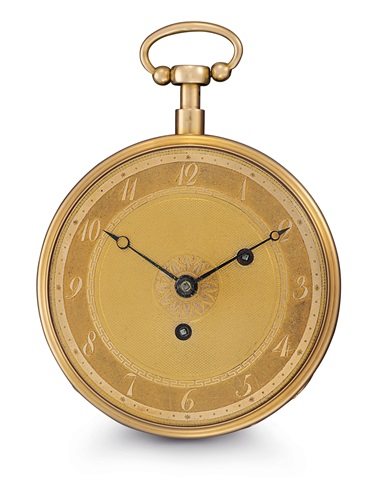 Henry-Daniel Capt. An exceptionally rare 18k gold and enamel key-wound open-face two-train musical repeating pocket watch. Estimate $50,000-100,000. Offered in An Evening of Exceptional Watches on 13 June at Christie's in New York