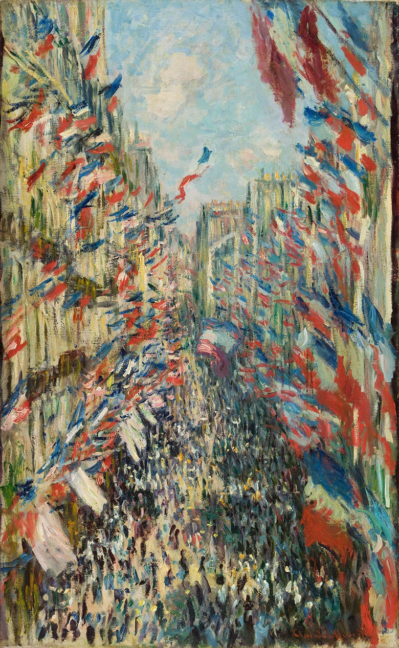 Claude Monet (1840-1926), The rue Montorgueil, Paris. The National Holiday of 30 June, 1878. Oil on canvas. 80 × 50 cm. © The National Gallery, London