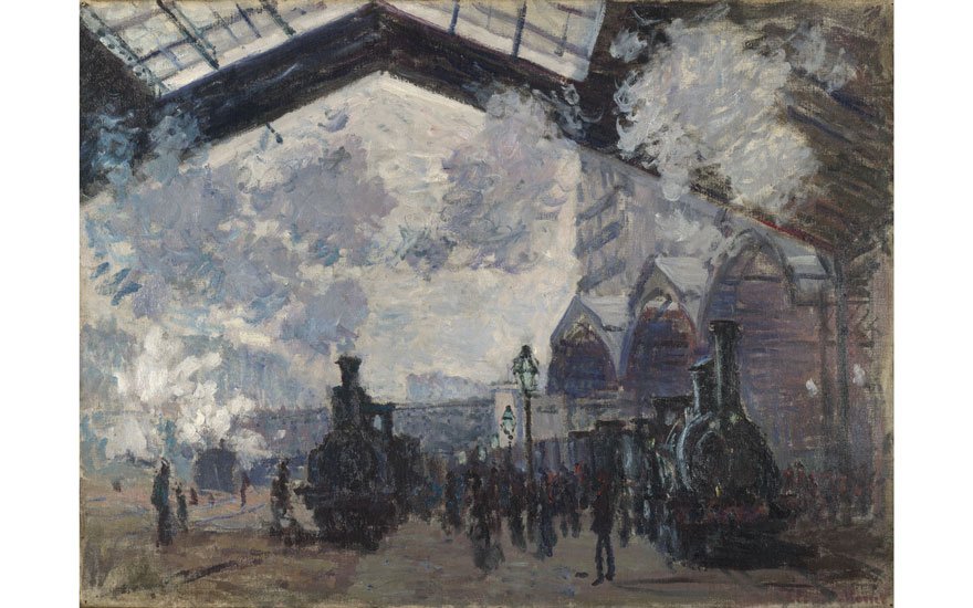 Claude Monet (1840-1926), The Saint-Lazare Railway Station, 1877. Oil on canvas. 54.3 x 73.6 cm. © The National Gallery, London