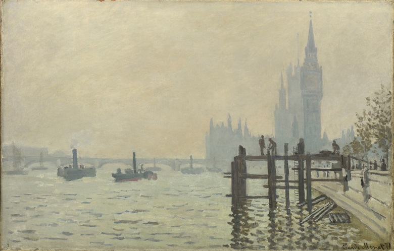 Claude Monet (1840-1926), The Thames below Westminster, circa 1871. Oil on canvas. 47 x 73 cm. © The National Gallery, London
