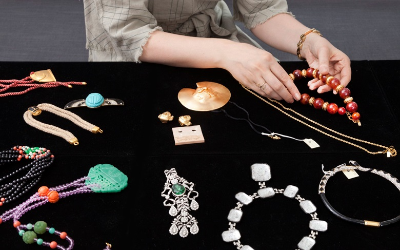 A selection of jewellery offered in Interiors New York Visions on 6 June at Christie's in New York