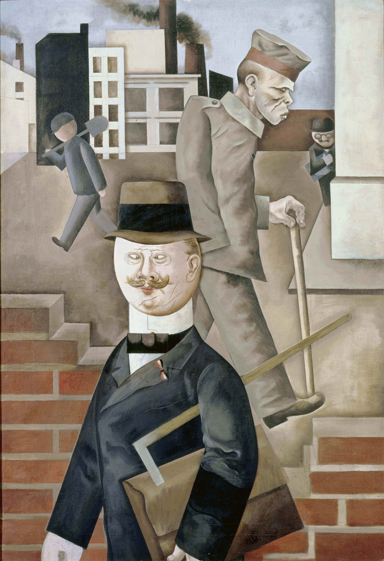 George Grosz (1893-1959) Grey Day, 1921. Oil paint on canvas. 1150 x 800 mm. Staatliche Museen zu Berlin, Nationalgalerie. Acquired by the Federal State of Berlin © Estate of George Grosz, Princeton, N.J. 2018