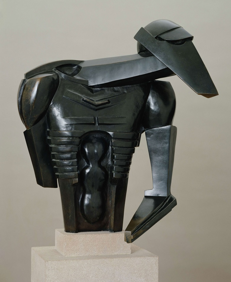 Jacob Epstein (1880-1959), Torso in Metal from The Rock Drill, 1913-14. Bronze. 705 x 584 x 445 mm. Tate © The Estate of Jacob Epstein