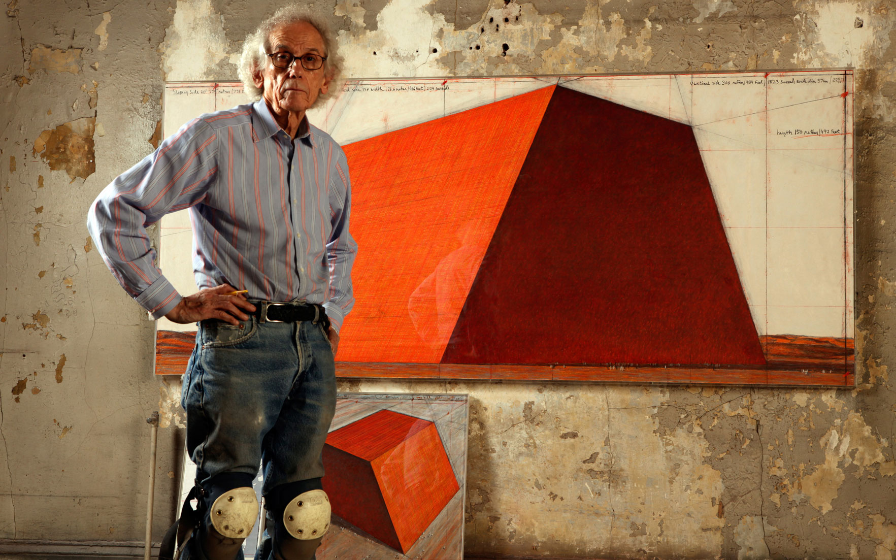 Christo. Photo Wolfgang Volz. Courtesy Serpentine Gallery. Christo & Jeanne-Claude Barrels and the Mastaba 1958-2018  is at Serpentine Gallery, London, from 19 June to 9 September