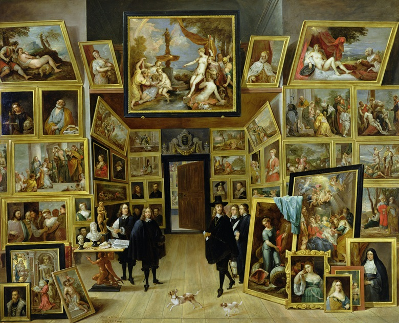 Archduke Leopold Wilhelm in his Picture Gallery, c. 1647, by David Teniers the Younger. Photo Bridgeman Images