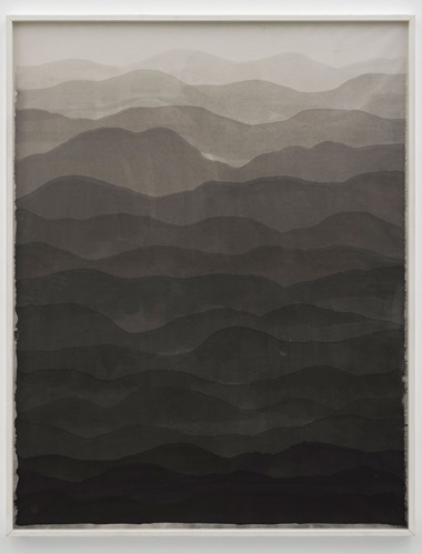 Minjung Kim, Mountain, 2009. Ink on mulberry Hanji paper. 172 x 133.6 cm. © The artist. Photo © White Cube (George Darrell)