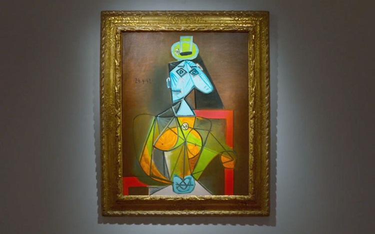 'A portrait of Dora Maar at he auction at Christies