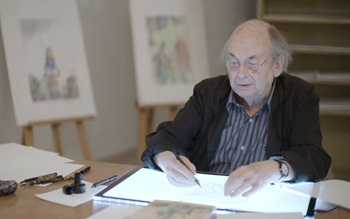 Quentin Blake on 'doing things auction at Christies