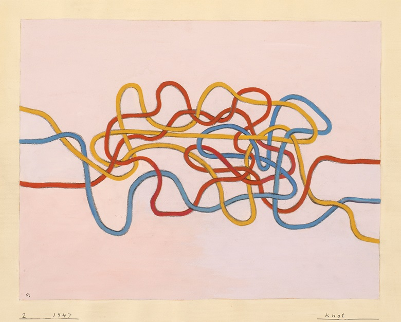 Anni Albers (1899-1994), Knot, 1947, gouache on paper, 43.2 x 51 cm © 2017 The Josef and Anni Albers FoundationArtists Rights Society (ARS), New YorkDACS, London. Photo Tim NighswanderImaging4Art © Kunstsammlung NRW