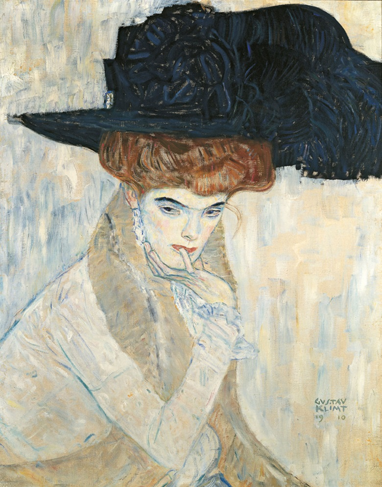 Gustav Klimt (1862-1918), The Black Feathered Hat, 1910. Oil on canvas. Private Collection